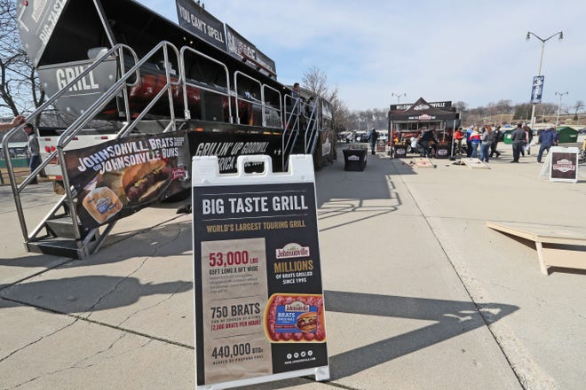 Johnsonville's Big Taste Grill can cook 750 brats at a time.