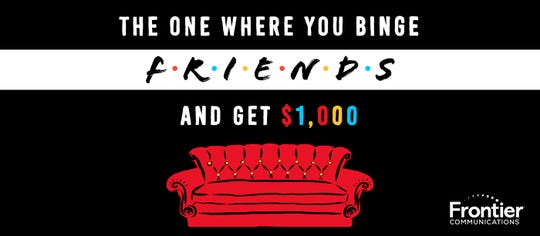 "Want to win $1,000 to binge-watch ""Friends?"""