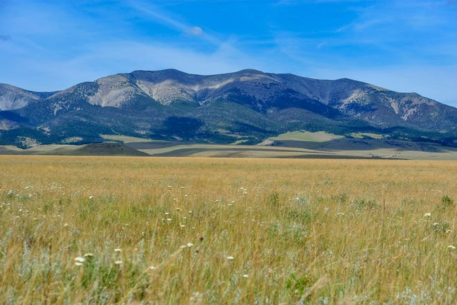The McFarland White Ranch at the eastern edge of the Crazy Mountains near Twodot,