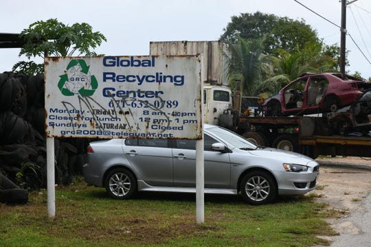 Global Recycling Center in Dededo on Aug. 15, 2019.
