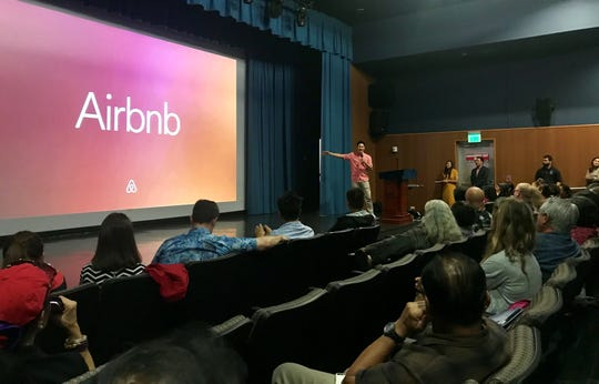 Guam Visitors Bureau invited Steven Kim, public policy manager with Airbnb's Seoul office, and the Department of Taxation and Revenue to discuss e-commerce accommodation opportunities on Guam, and how to be a legal accommodation provider at a workshop in the Guam Museum on Thursday.