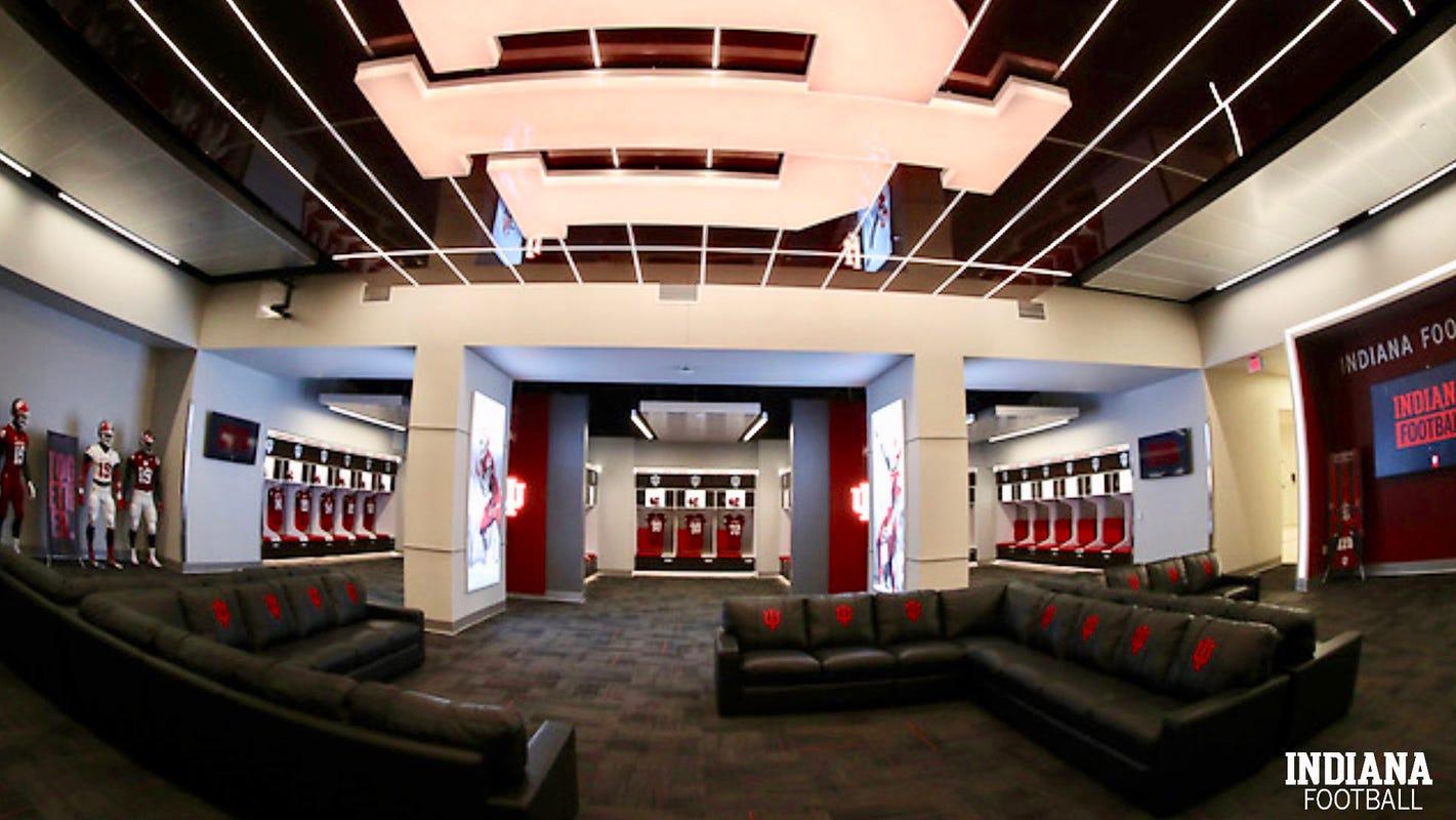 Iu Football Team Sees Renovated Locker Room