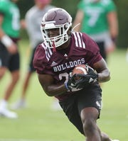 Mississippi State's Lee Witherspoon set records during his senior season at North Jackson High School in Alabama. Now he's in line to get some touches in his freshman season at Mississippi State.