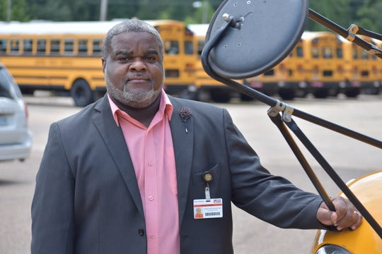 Derick Williams, the executive director of transportation for the Jackson Public School District, started driving bus for JPS while a student at Hinds Community College.