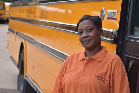 Marie Burse, 42, is a second-year bus driver for the Jackson Public School District.  A mother of six, she is often a mother figure and confidante.
