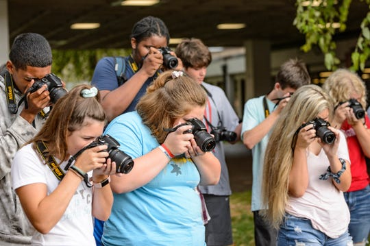 The Digital Arts and Design program has a class set of Nikon digital SLR cameras for students to learn the fundamentals of photography at Central High School. Central students are currently taking Digital Arts and Design 1 and 2 classes, and the dual enrollment class is set to start late August.