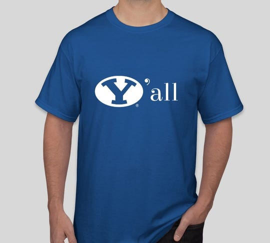 A picture of the BYU Alumni Association's special-made shirt for the Tennessee game, courtesy of Seth Killingbeck.