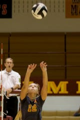 Setter Kailee Cornell is one of five seniors for McCutcheon's unbeaten volleyball team.