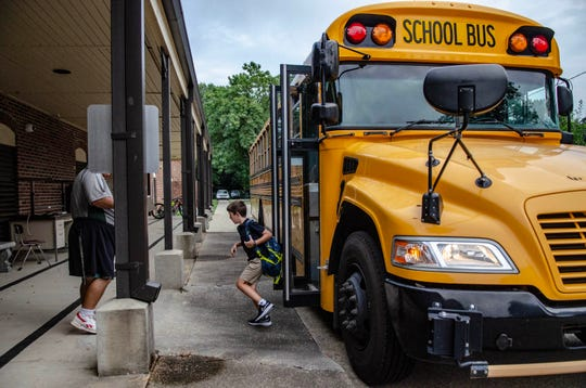 Students and Faculty arrive to their first day of school at Myrtle Place Elementary for the 2019-2020 school year.