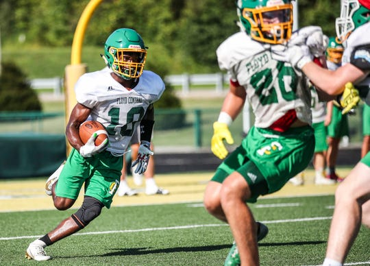 Floyd Central senior and wide receiver Calvin Brown will see a lot of playing time this fall for the Highlanders football team.