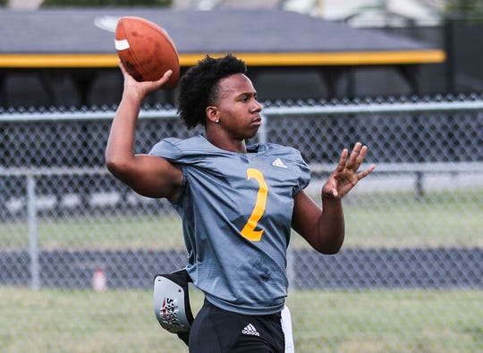 Keyshawn Minor -- #2 -- is a quarterback for Clarksville High School.