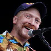 Tyler Childers performs on the Elkhorn Stage at the inaugural Railbird Festival at Kenneland on Aug. 11, 2019