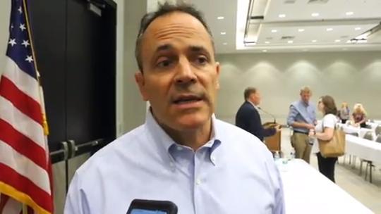 Gov. Matt Bevin trolls Democrats at Kentucky State Fair in President Trump jacket