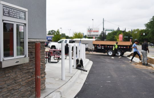 The Quality Dairy in Holt at the intersection of North Cedar Street and Aurelius Road has a drive-thru. This is the only QD in the Lansing region with a drive-thru.