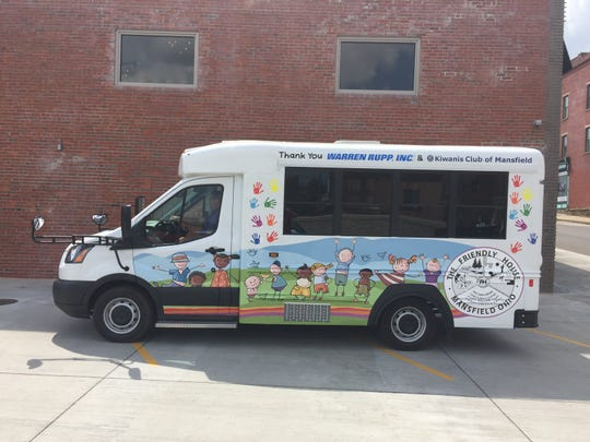 This is the mini-bus bought for the Friendly House through the Coolest Dog contest. The Kiwanis Club is hoping to buy another one through the Purr-fect Cat contest.