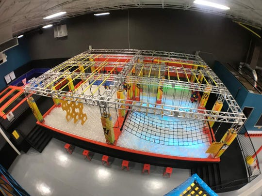 Urban Air Adventure Park features an obstacle ropes course. The indoor amusement park is being proposed at the former Gander Mountain store in Waukesha.