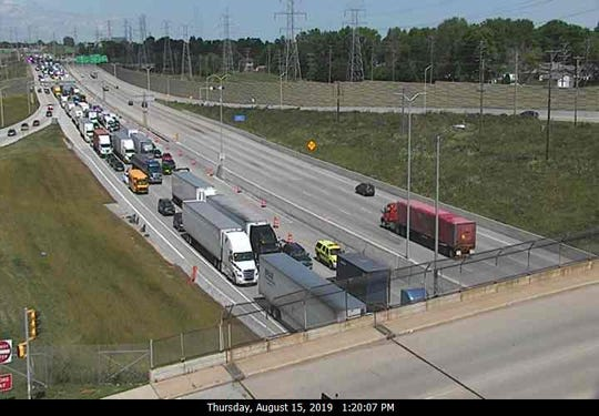 Traffic was backed up on I-894 after a fatal motorcycle crash on Aug. 15.