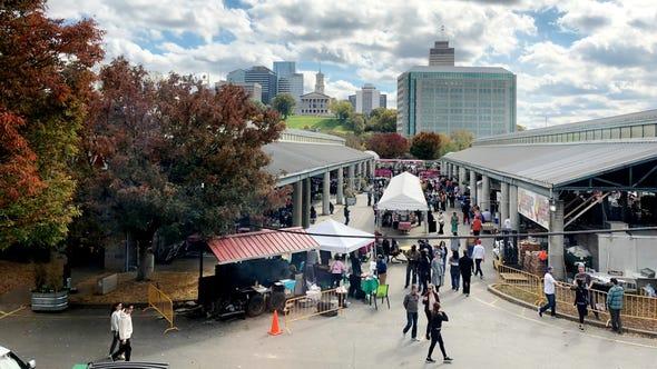 A past Nashville Farmers Market turnip green festival.