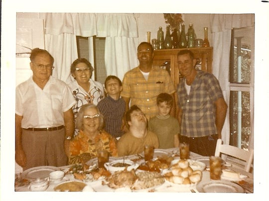 A holiday meal at the Alvarez-Smith home off Highlands Avenue in Estero in 1971.