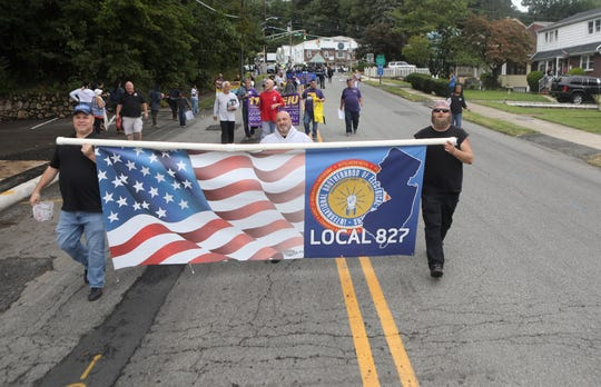 The Annual Labor Day Parade moves through Paterson on its way to the Great Falls after leaving Haledon and the American Labor Museum. Sunday September 2, 2017.