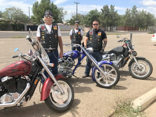 American Legion Riders, from left, president Ed Carver, chairman Irv Rutto Jr. and sergeant at arms Kenneth Teague, invite the community to support a benefit car wash on Aug. 31 for the Operation Wounded Warrior and the Fisher House in Albuquerque.