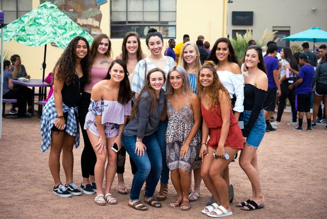 Members of the WNMU Mustangs women's volleyball team pose for the camera during last year's bash.