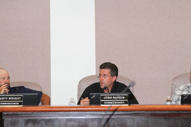 Commissioner Josh Rardin comments on the issue of campaign disclosure at a City Commission meeting Tuesday, Aug. 13.