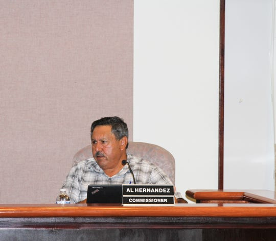 Commissioner Alfonso Hernandez comments on the issue of campaign disclosure at a City Commission meeting Tuesday, Aug. 13.