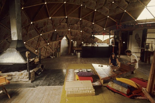 The interior of a dome dwelling in Libre, Colo., is pictured in 1969.