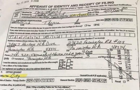 Rich's affidavit.