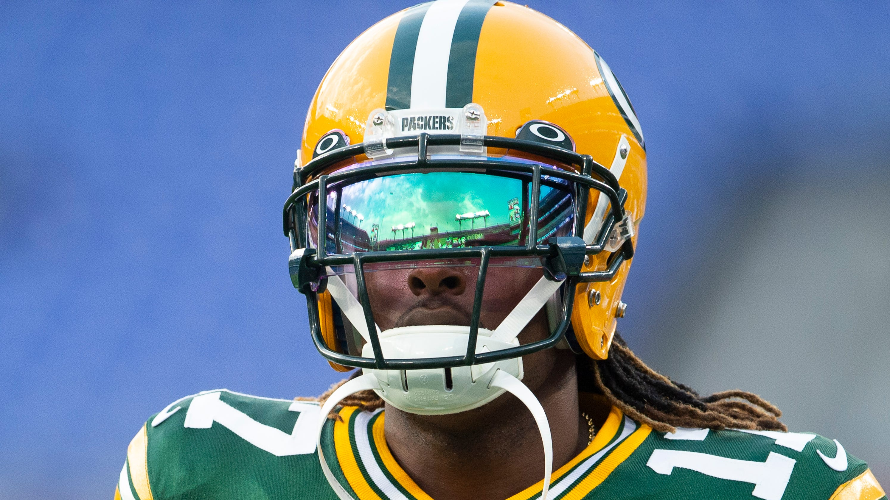 sale retailer 55190 adb98 Analysis: Packers' Davante Adams needs help to ditch double ...