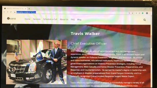 Cathedral City Police Chief Travis Walker started a security consulting business while on paid leave amid a sexual harassment suit.