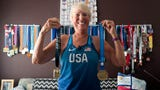 Darlene Backlund is 74 years old and has set four world records and holds eight American records in race walking. (August 2019)