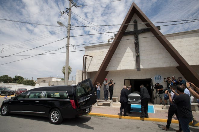 Ivan Filiberto Manzano's body arrives in Ciudad Juarez, Mexico to be buried on August 8, 2019. Manzano was one of 22 people killed by a shooter in El Paso, Texas on August 3, 2019.