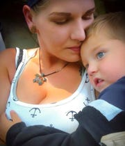 Nicole Stefanizzi holds her son Jacob in June 2016.