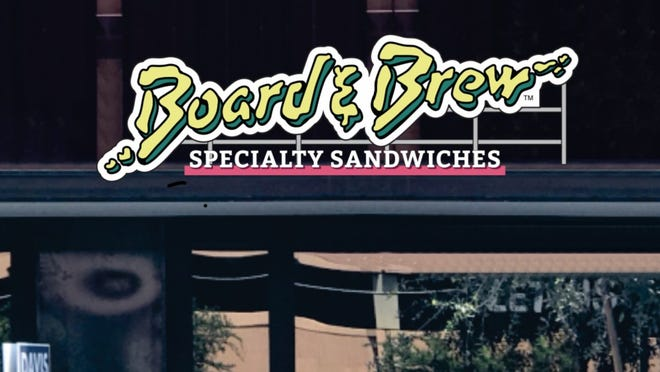 The sign for sandwich shop Board and Brew. The California concept is coming to Tempe this fall.