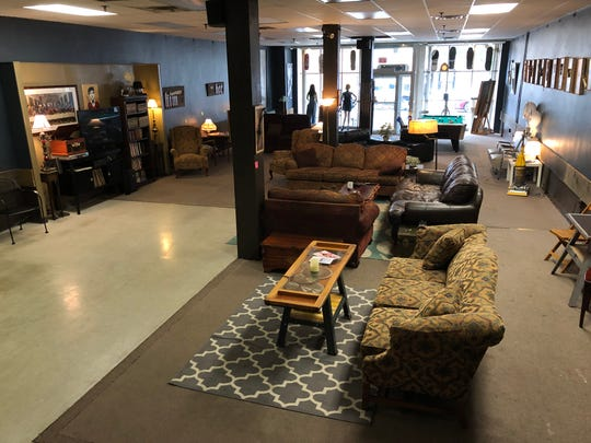 Inside Scott Church's Living Room, part hangout, part community center, and definitely not a new furniture store in downtown Lebanon.