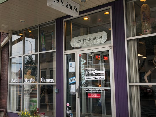 Scott Church's Living Room is located at 39 S. Eighth St. and does not have set hours. Check Facebook for advertised events or just pop in if you're in the neighborhood.