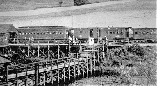 Passengers could take one of six trains every day during the peak summer season to visit Grove Amusement Park on Upton Lake. The Poughkeepsie and Eastern Railroad not only provided transportation but also built the amusement park.