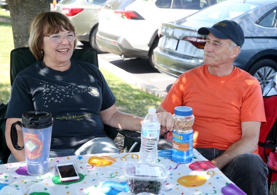 Linda and Jeffrey Hall of Blooming Grove enjoy tailgating at Bethel Woods Center for the Arts for the 50th anniversary of Woodstock on August 15, 2019. Linda was at the original 1969 festival.