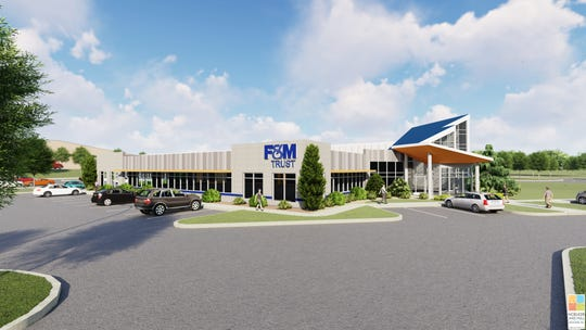 A rendering of the F&M Trust's planned corporate and operations office at 1500 Nitterhouse Drive, Chambersburg.