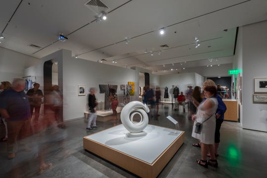 "More than 1,200 museum members and their guests got an exclusive ""sneak peek"" of ""Georgia O'Keeffe: Living Modern"" at the Nevada Museum of Art on July 18, 2019. The exhibition is on view through October 20."