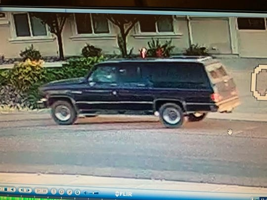 Vehicle of interest in the hit and run vehicular homicide that occurred on Six Mile Canyon Road this morning, according to Lyon County Sheriff's Office.