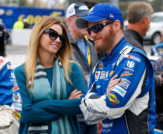 NASCAR television analyst and former driver Dale Earnhardt Jr. was taken to a hospital after his plane crashed in east Tennessee. (AP Photo/Steve Helber, File)