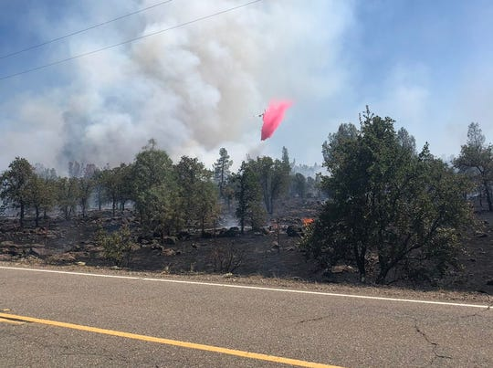 Firefighters are responding to the Cottage Incident east of Anderson on Thursday, Aug. 15.