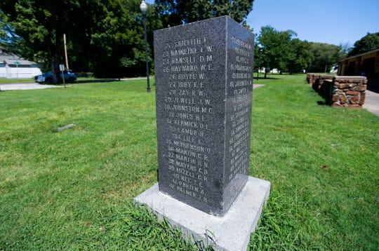 A World War I monument in Grant Beach Park on Thursday, Aug. 15, 2019.