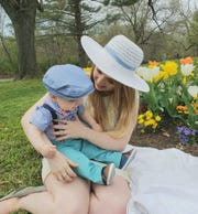 Ellen Stollar, pictured here with her son Ethan, started the Waynesboro, Va. Moms Group on Facebook.
