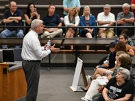 Vocal constituents confront Emmer at town hall