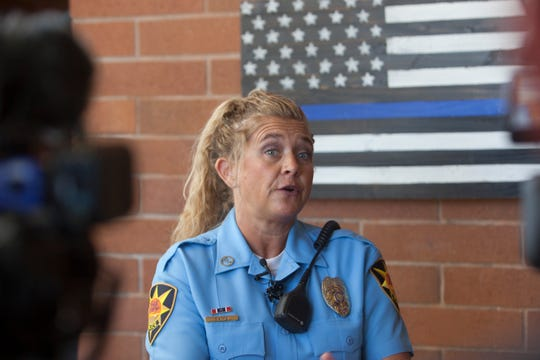 Tiffany Atkin, from the St. George Police Department, discusses the shooting incident that left an 18-year-old dead Thursday, Aug. 15, 2019.