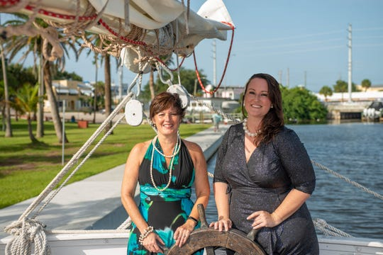 Betsy Johnson, left, and Sarah Baker are co-chairs of the Sept. 21Pirates & Pearls Garden Bashat Molly's House in Stuart.